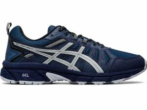 Asics Gel-Venture 7 4E Extra Wide Peacoat Grey Men's Running Trainers Shoes