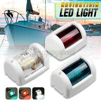 12V LED Side Marker Signal Lamp Navigation Light For Port Starboard Marine Boat