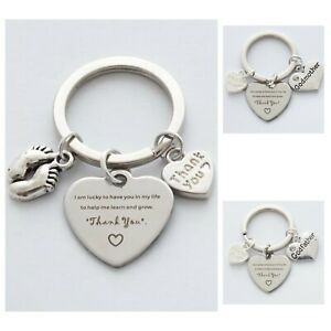 """""""Thank you"""" Godparent Guideparent Christening Naming Religious Humanist Keyring"""