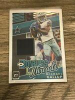 Michael Gallup 2019 Panini Donruss Optic Threads Dallas Cowboys Card #DT20