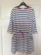 Mini Boden Girl's Dresses X 2, Age 7-8, Navy and Breton Stripe