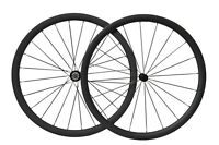 700C Carbon 38mm Tubeless Clincher 3K Matt Powerway Road Wheelset Rim Brake