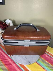 Vintage Samsonite Silhouette Make Up Train Case Luggage Suitcase No Key or Tray