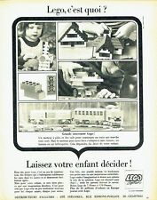 Publicité Advertising 037  1966   Lego system  jeux jouets train Post