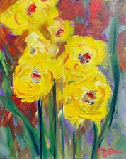 """Claire McElveen OIL  Painting  ART """"Cuttings"""" Signed Original NO RESERVE !"""