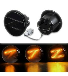 Fits Nissan 370Z Sequential Repeater Z Smoke Side Marker Light Left/Right - DEMO