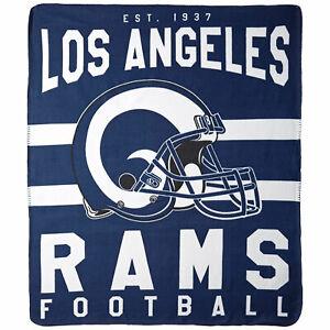 "Los Angeles Rams LA 50"" x 60"" Singular Design Fleece Throw Blanket by Northwest"