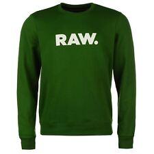 G-STAR RAW JERSEY DE Hombre Suéter tiempo libre logo blanco NUEVO Negro Verde