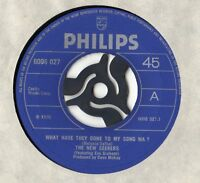 "New Seekers - What Have They Done To My Song Ma 7"" Single 1970"