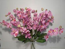 LAVANDER ORCHID SPRAY BUSH PICK SILK~LOT OF 2~NEW WEDDING ANNIVERSARY HOME DECOR