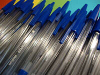 100 x Blue Ballpoint Pens - Bulk Clearance Job Lot