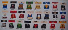 LEGO CUSTOM MINIFIG GLOSSY DECAL SET DC COMICS SET 3 24 FIGURE LOT