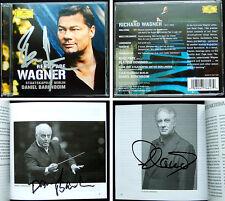 René Pape Placido Domingo Barenboim SIGNED Wagner Lohengrin Parsifal Valchiria CD