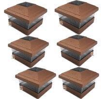 "5""X5"" Copper Color  Outdoor Garden Solar LED Post Cap Fence Square Lights 6-Pack"
