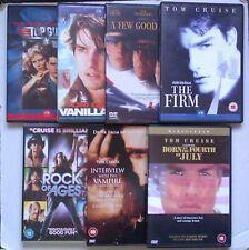 TOM CRUISE Seven Movie's, Top Gun, Vanilla Sky, Interview with a Vampire DVD Set