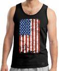 AMERICAN US Flag TANK TOP T Shirt Tee ~ USA Pride ~ DISTRESSED PATRIOTIC Vet
