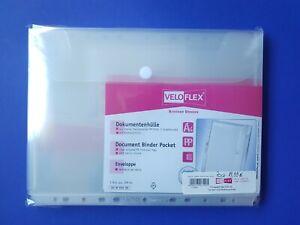 Veloflex Avvolgere il Documento 10er Pacco Serie Cristallo - Transp. A A4 10 st.