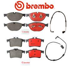 Front Brake Pads & Rear Brake Pads Set OEM Brembo Ceramic + Sensors Jaguar 10-17