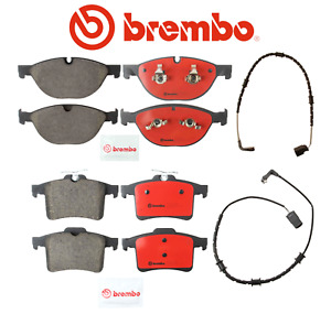 Front Brake Pads & Rear Brake Pads Set OEM Brembo Ceramic + Sensors Jaguar 10-17
