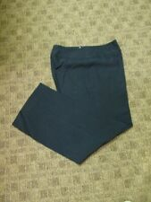 AKRIS Dark Navy Blue Side Zip Solid Flat Front Career Slacks Pants Sz 10 GG6930