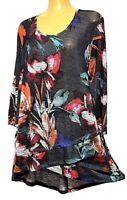 TS top TAKING SHAPE VIRTU plus sz XL / 24 Autumn Garden Top light stretchy NWT!