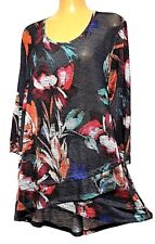 TS top TAKING SHAPE VIRTU plus sz M / 18-20 Autumn Garden Top light stretchy NWT