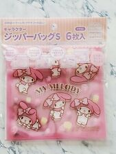 New SANRIO My Melody & rhythm Zip Bag S 6P Floral clear Pink KAWAII JAPAN F/S