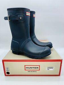 HUNTER Women's Original Short Rain Boots -  NAVY US 9