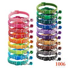 Dog Puppy Pet Collar Adjustable Nylon Paw Print small 12 colours New