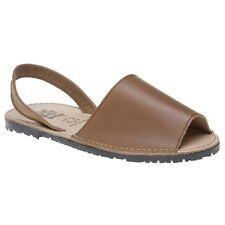 b0f7c056 New Womens XTI Tan Palma Leather Sandals Flats Slip On