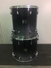 "Yamaha Oak Custom Absolute Black Pearl Fade Drums 16/18""FlToms 22""Kick Japanese"