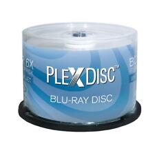 50 PlexDisc 6X Blank BD-R Blu-Ray 25GB White Inkjet Hub Printable Disc 633-214