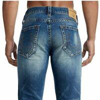 True Religion Men's Geno Slim Fit Stretch Jeans in Jetset Blue