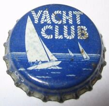 YACHT CLUB SODA POP BOTTLE CAP; 1946-59; MONTREAL, QUEBEC, CANADA;  USED CORK