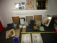 large lot of 23 vintage metal picture photo frames some collage frames