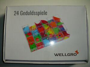 24 Wellgro Geduldspiele mit Kugeln: Geduldspiel-Megapack mit 24 Spielen