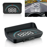 M8 Car Speedometer Head Up Display OBD2 II Overspeed Tired Warning Alarm US