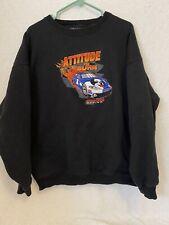 Big Dogs Racing, Attitude to Burn Crewneck Sweatshirt Black XL Embroidered