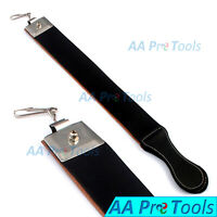 Professional Barber Real Leather Strop Straight Razor Sharpening Shaving Belt