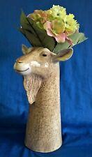 More details for quail ceramic british toggenburg goat head flower vase farm animal figure model