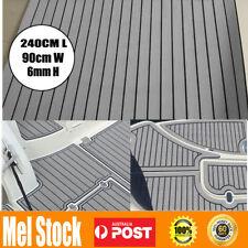 240cmx90cm Marine Flooring Faux Teak EVA Foam Boat Yacht Decking Sheet GREY AU