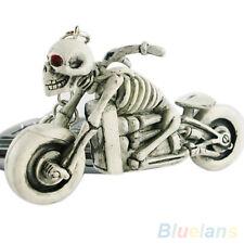 Creative Charming Motor Skull Purse Bag Key Ring Rubber Keyring Keychain Gift