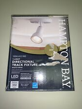 "Hampton Bay 5"" White Round LED Multi-Directional Fixed Track Lighting Fixture"
