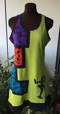 Size 14,16,18, dress, tunic, Lime Green, Boho, Quirky, Desigual Style!