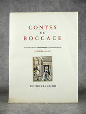 BOCCACE. GIOVANNI BOCCACIO. CONTES. ILL. JEAN GRADASSI. ÉDITIONS ROMBALDI. 1951