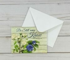 Greeting Note Cards Inspirational Be Still And Know Flowers 6 Count Blank