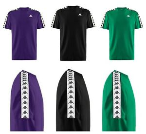 Kappa Mens Banda Coen T-Shirt Authentic Tee Top Black Green White Size Small NEW
