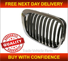 Bmw 3 Coupe Convertible E46 1998-02/2003 Front Right Black&Chrome Kidney Grille