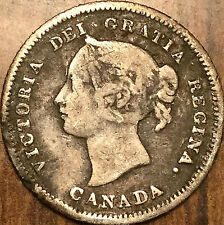 1880H CANADA SILVER 5 CENTS