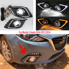 LED Daytime Running Light Fit For Mazda 3 Axela Fog Lamp DRL 2014 2015 2016 Set